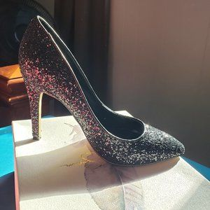 Veronica Black Glitter Pumps by Jessica Simpson